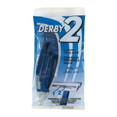 DERBY 2 Cuchilla de afeitar 2 hojas (5 razors)