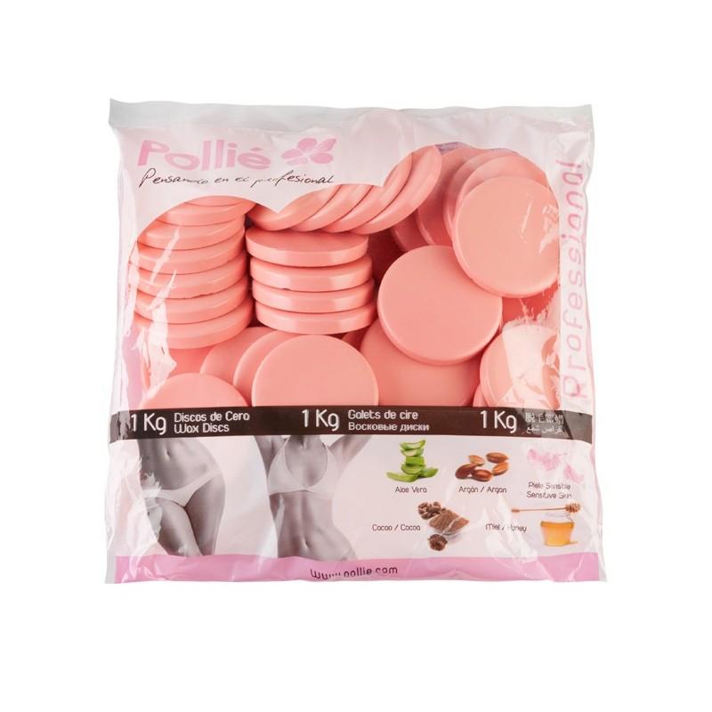 POLLIÉ Cera en discos rosa 1 kg