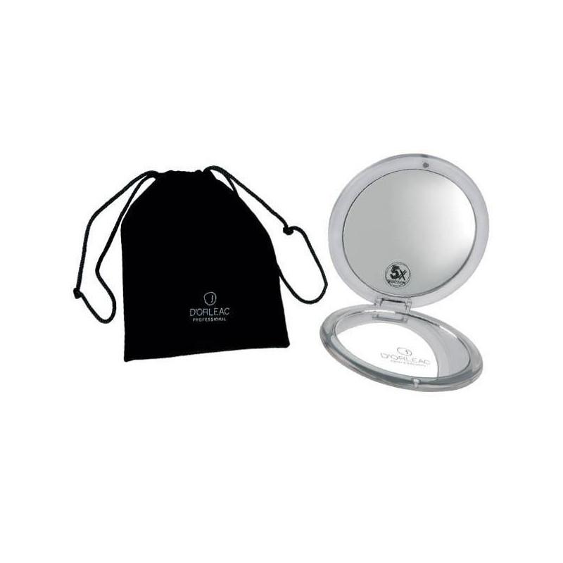 D'ORLEAC Espejo de bolso con 5 aumentos