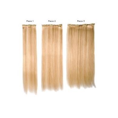 SANGRÁ Extensiones cabello 100% natural remy con clip Nº 140 (3 pcs)