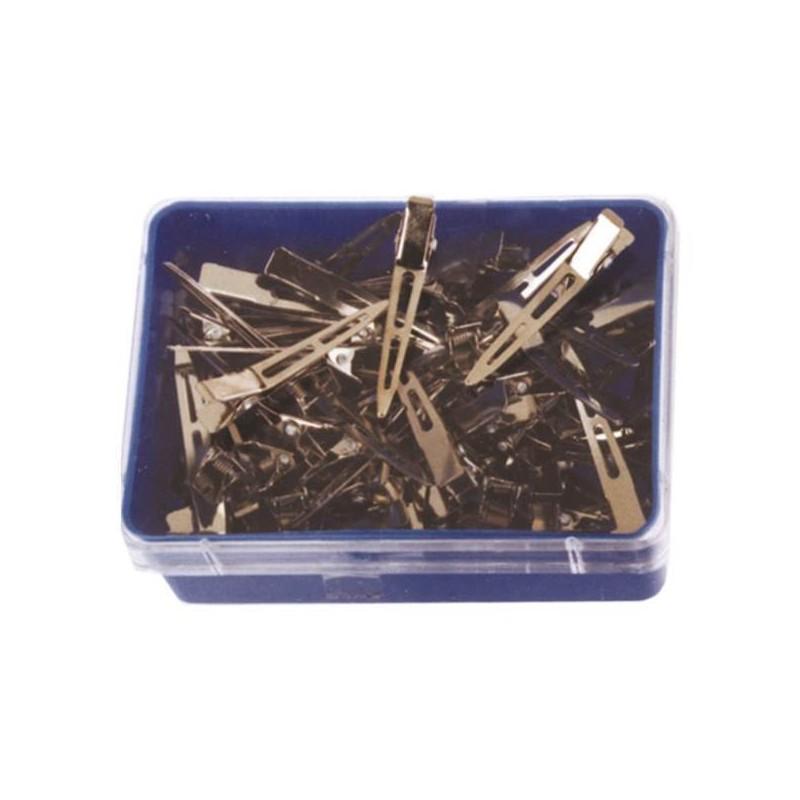 Pinzas acero granel pequeñas (100 unid)