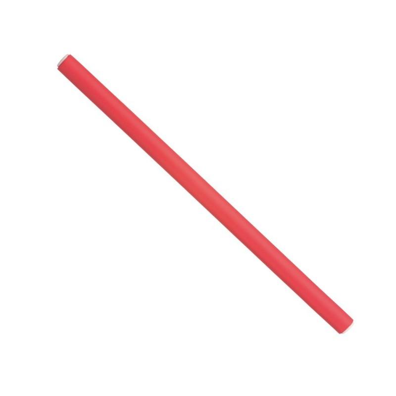 DNA. Papillots largos rojos 25 x 1,2 cm (12 u)