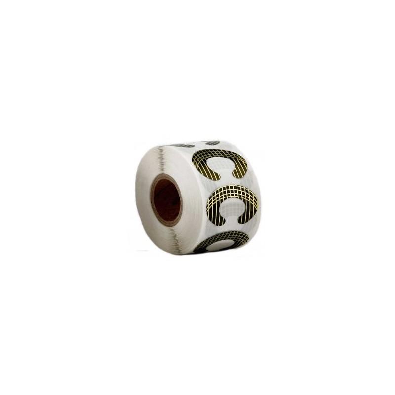 Molde adhesivo uñas de porcelana mediano (500 pcs)