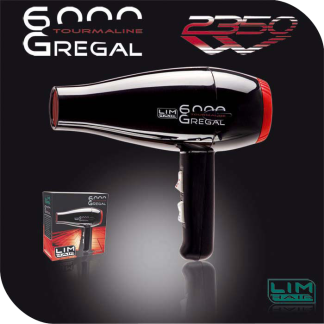 LIM HAIR Secador 6000 Gregal tourmaline NEGRO