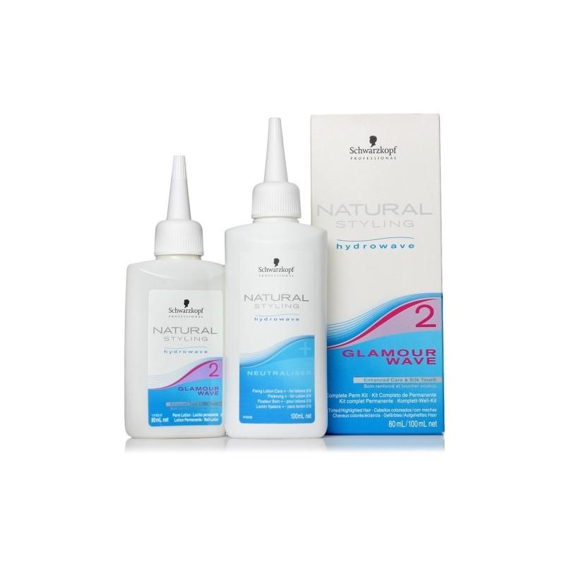 SCHWARZKOPF Natural styling glamour wave. Kit completo de permanente nº 2 cabellos coloreados/con mechas