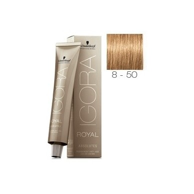 SCHWARZKOPF IGORA ROYAL ABSOLUTES 8-50 RUBIO CLARO DORADO NATURAL + OXIGENADA 30 VOL.