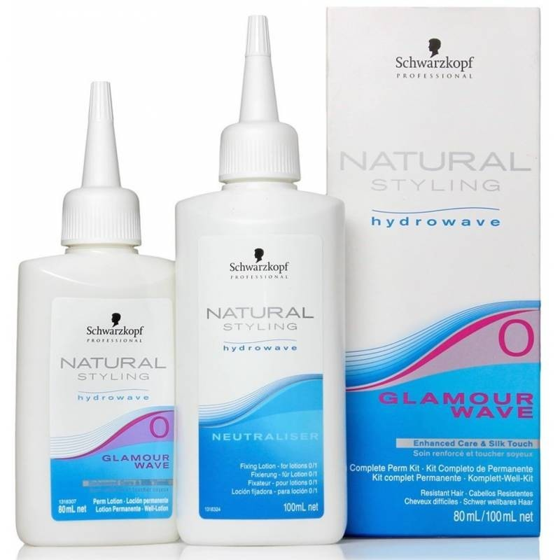 SCHWARZKOPF Natural styling glamour wave. Kit completo de permanente nº 0 cabellos resistentes