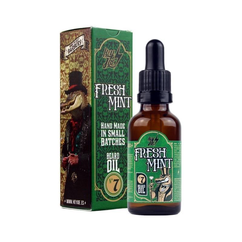 Hey Joe Fresh Mint beard oil Nº 7. Aceite para baraba y bigote 30 ml