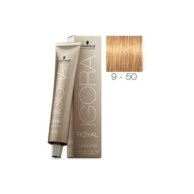 SCHWARZKOPF IGORA ROYAL ABSOLUTES 9-50 RUBIO MUY CLARO DORADO NATURAL