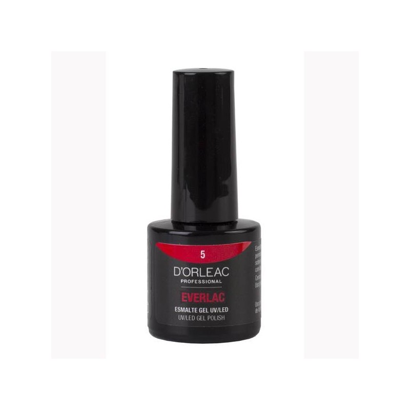 D' ORLEAC EVERLAC Esmalte gel UV/LED color ROJO 9ml