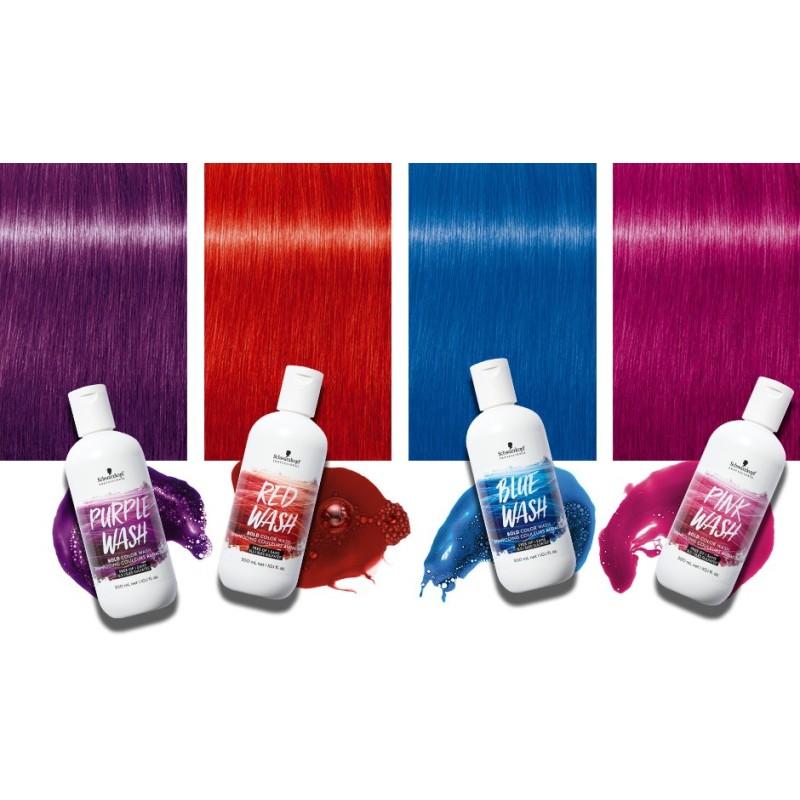 SCHWARZKOPF BOLD COLOR WASHES Color rojo 300 ml