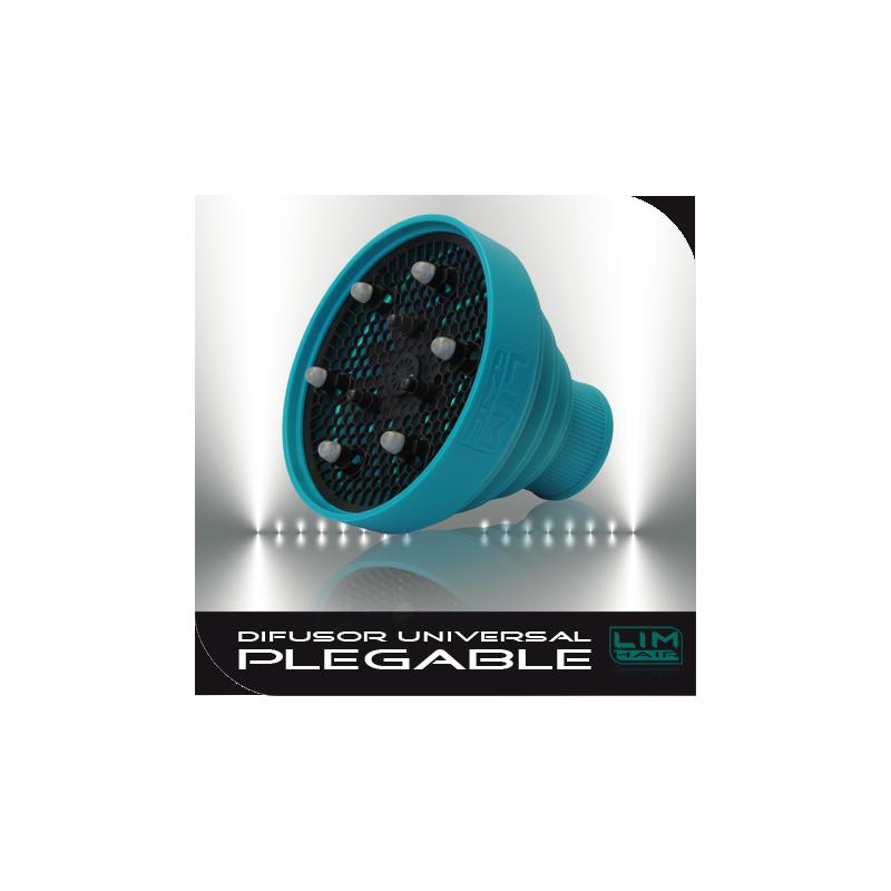 LIM HAIR Difusor secador universal plegable original TURQUESA