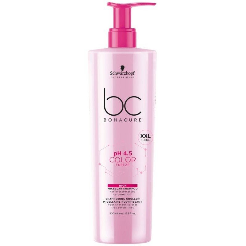 SCHWARZKOPF BONACURE COLOR FREEZE pH 4.5 RICH champú enriquecido 500 ml