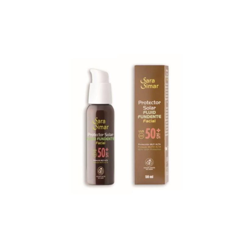 SARA SIMAR  Protector solar fluido facial 50 SPF+ (UVB y UVA) 50 ml