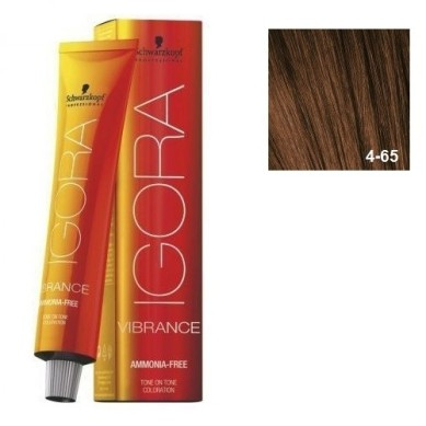 (OUTLET) IGORA VIBRANCE BAÑO DE COLOR (sin amoniaco) 4-65 CASTAÑO MEDIO MARRÓN DORADO 60 ml