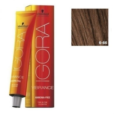 IGORA VIBRANCE BAÑO DE COLOR (sin amoniaco) 6-66 RUBIO OSCURO MARRÓN INTENSO 60 ml