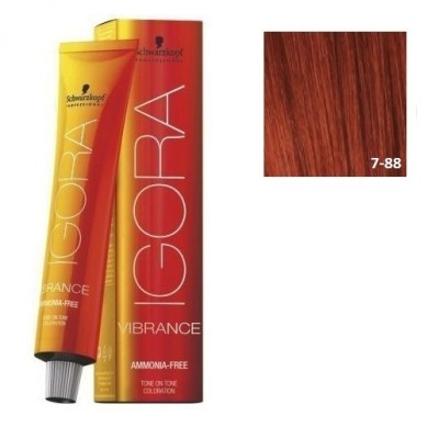 IGORA VIBRANCE BAÑO DE COLOR (sin amoniaco) 7-88 RUBIO MEDIO ROJO INTENSO 60 ml