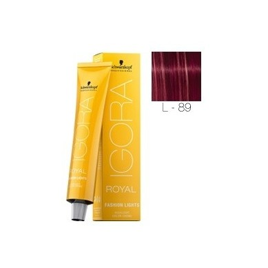 IGORA ROYAL FASHION LIGHTS L-89 ROJO VIOLETA 60 ml