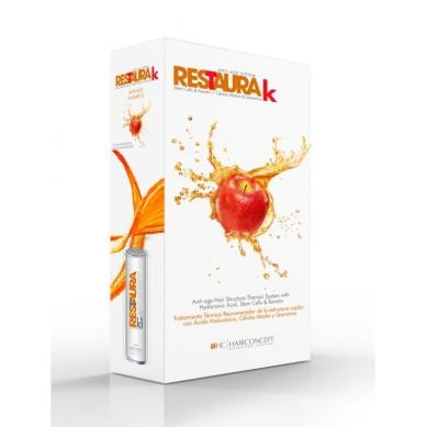 HC Hairconcept Restaura k kit champú 500 + crema reestructurante 500 ml cabellos finos
