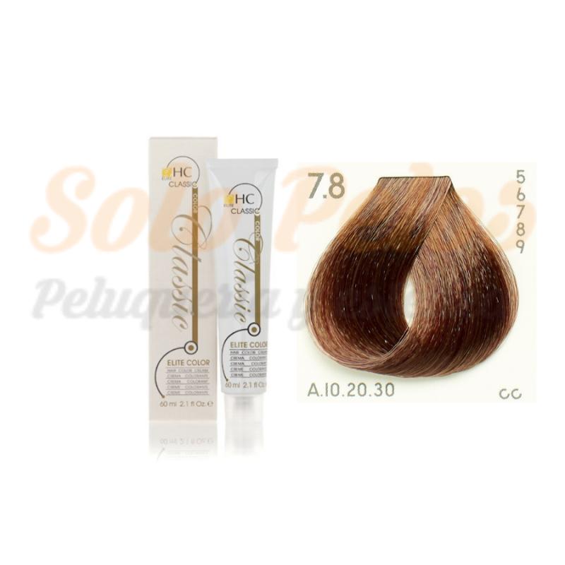 Elite classic color 7-8 rubio marron 60 ml. HAIRCONCEPT