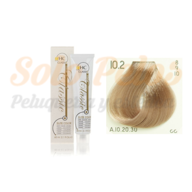 Elite classic color 10-2 rubio platino beige 60 ml. HAIRCONCEPT