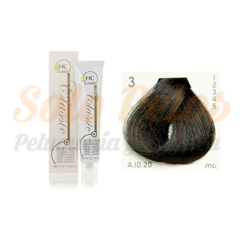 Elite classic color 3-0 castaño oscuro natural 60 ml. HAIRCONCEPT