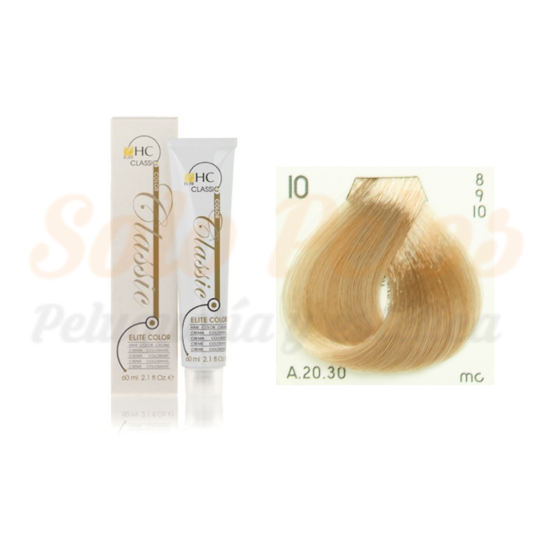 Elite classic color 10 rubio platino natural 60 ml. HAIRCONCEPT