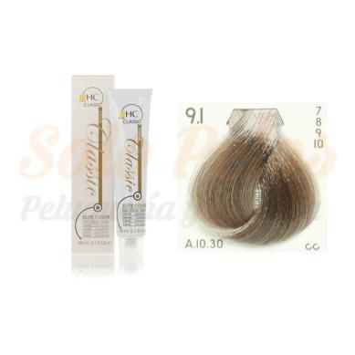 Elite classic color 9-1 rubio extra claro ceniza 60 ml. HAIRCONCEPT