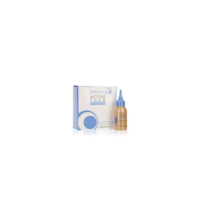 Salerm Active Form Líquido de permanente cabellos naturales Nº 1 (6 x 75 ml)