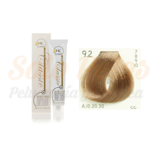 Elite classic color 9-2 rubio extra claro beige 60 ml. HAIRCONCEPT