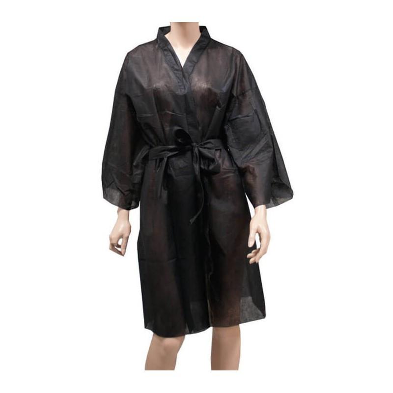 Kimono Desechable negro POLLIÉ