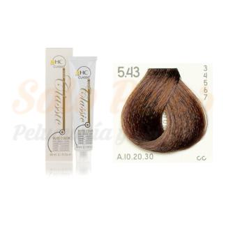 Elite classic color 5-43 castaño claro cobre dorado60 ml. HAIRCONCEPT