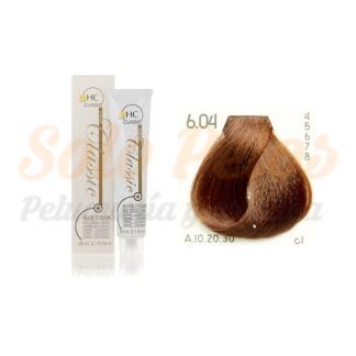 Elite classic color 6-04 rubio oscuro natural cobre 60 ml. HAIRCONCEPT