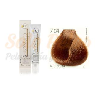 Elite classic color 7-04rubio natural cobre 60 ml. HAIRCONCEPT