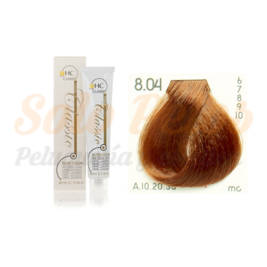 Elite classic color 8-04 rubio claro natural cobre 60 ml. HAIRCONCEPT