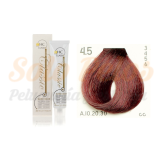 Elite classic color 4-5 castaño rojizo 60 ml. HAIRCONCEPT