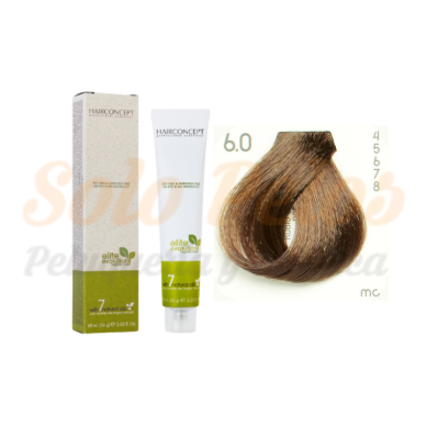 HAIRCONCEPT ELITE EVOLUTION ORGANIC COLOR (SIN AMONIACO NI PPD) 6-0 RUBIO OSCURO NATURAL 60 ML