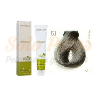 HAIRCONCEPT 5-1 Castaño claro ceniza ELITE EVOLUTION ORGANIC COLOR (SIN AMONIACO NI PPD) 60 ml
