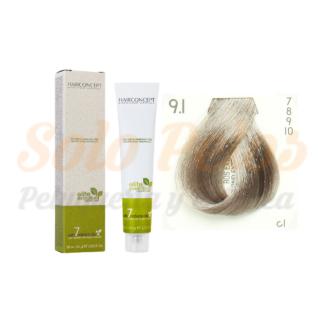 HAIRCONCEPT 9-1 rubio extra claro ceniza ELITE EVOLUTION ORGANIC COLOR (SIN AMONIACO NI PPD) 60 ml