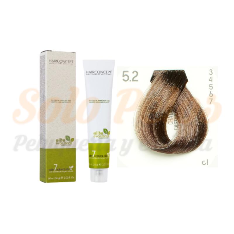 HAIRCONCEPT 5-2 Castaño claro beige ELITE EVOLUTION ORGANIC COLOR (SIN AMONIACO NI PPD) 60 ml