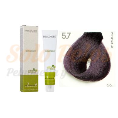HAIRCONCEPT 5-7 Castaño claro violeta ELITE EVOLUTION ORGANIC COLOR (SIN AMONIACO NI PPD) 60 ml
