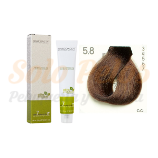 HAIRCONCEPT 5-8 Castaño claro marrón ELITE EVOLUTION ORGANIC COLOR (SIN AMONIACO NI PPD) 60 ml