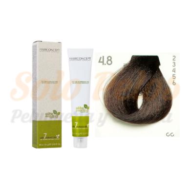 4-8 Castaño medio marrón ELITE EVOLUTION ORGANIC COLOR (Tinte de pelo sin amoniaco ni PPD) 60 ml HAIRCONCEPT