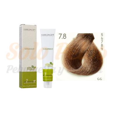 7-8 Rubio medio marrón ELITE EVOLUTION ORGANIC COLOR (Tinte de pelo sin amoniaco ni PPD) 60 ml HAIRCONCEPT