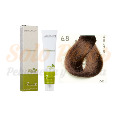 HAIRCONCEPT 6-8 Rubio oscuro marrón ELITE EVOLUTION ORGANIC COLOR (SIN AMONIACO NI PPD) 60 ml