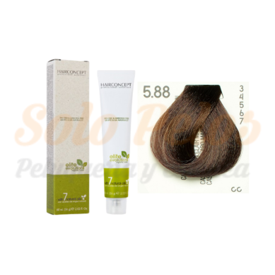 HAIRCONCEPT 5-88 Castaño claro marrón intenso ELITE EVOLUTION ORGANIC COLOR (SIN AMONIACO NI PPD) 60 ml