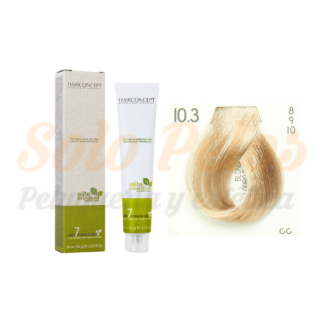 HAIRCONCEPT 10-3 rubio platino dorado ELITE EVOLUTION ORGANIC COLOR (SIN AMONIACO NI PPD) 60 ml