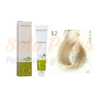 HAIRCONCEPT 11-2 rubio ultra platino beige ELITE EVOLUTION ORGANIC COLOR (SIN AMONIACO NI PPD) 60 ml