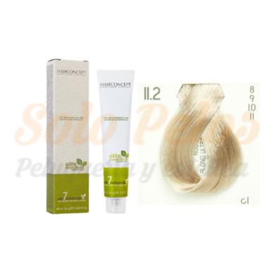 11-2 rubio ultra platino beige ELITE EVOLUTION ORGANIC COLOR (Tinte de pelo sin amoniaco ni PPD) 60 ml HAIRCONCEPT
