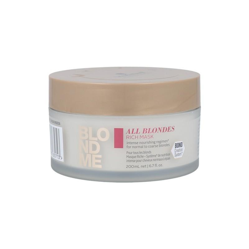 SCHWARZKOPF BLONDME Mascarilla Enriquecida para cabellos Rubios 200 ml